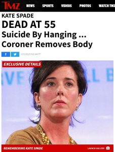 TMZ Kate Spade DEAD AT 55 Suicide By Hanging