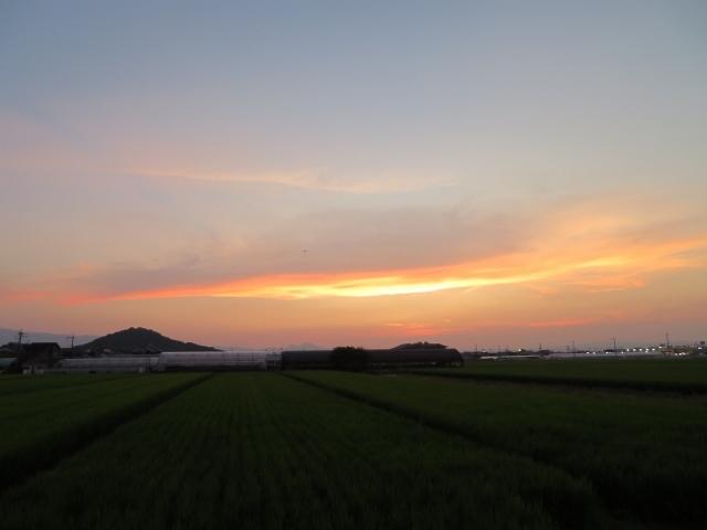 夕焼け空…一日のホッとする時間