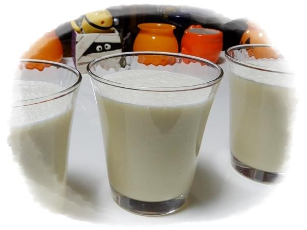 りんごとミルクのジュース