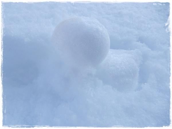 あひるの雪だるま
