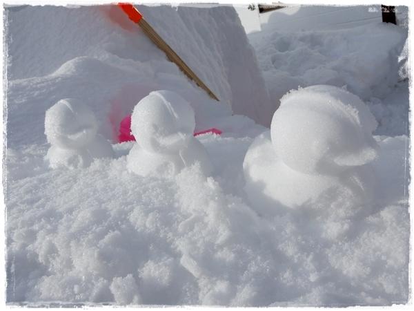 あひる雪だるま