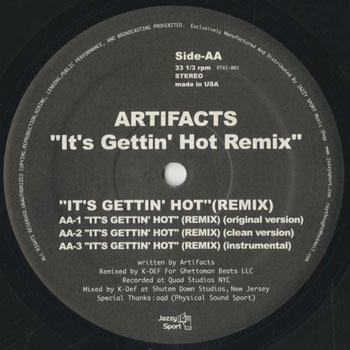 ARTIFACTS Its Gettin Hot Remix_20200410