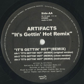 ARTIFACTS Its Gettin Hot Remix _20200428