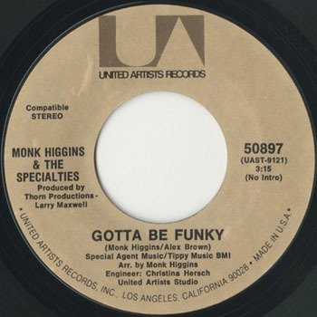 MONK HIGGINS Gotta Be Funky_20200927