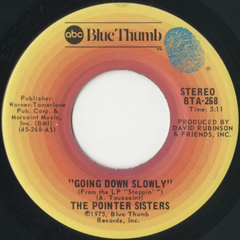 POINTER SISTERS Going Down Slowly_20200927
