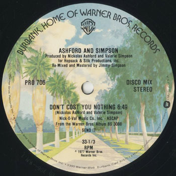 ASHFORD and SIMPSON Dont Cost You Nothing_20201013
