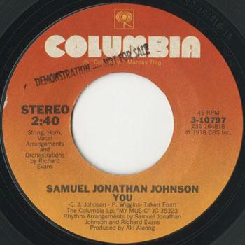 SAMUEL JONATHAN JOHNSON You My Music_20201018