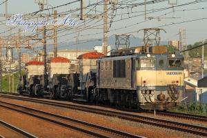 8862レ(=EF64-1022牽引) シキ1000×3両変圧器輸送