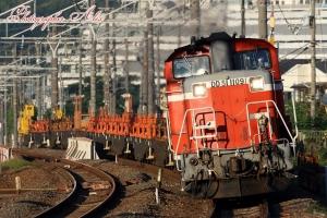 工8896レ(=DD51-1109牽引)