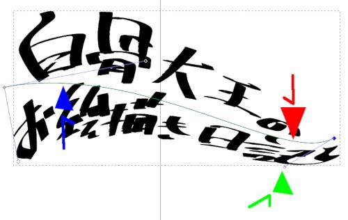 インクスケープ パスを曲げる ノードを使う2021/02/14