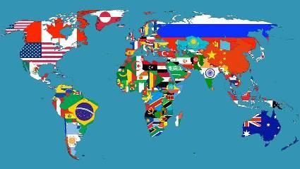 世界地図国旗 - 50コピー