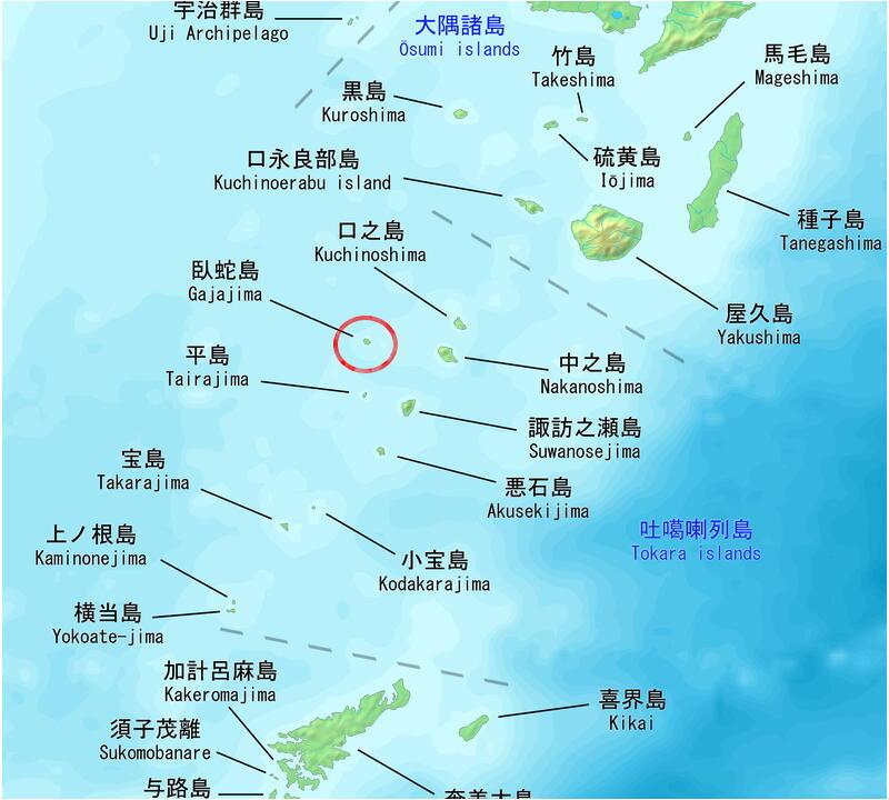 臥蛇島map
