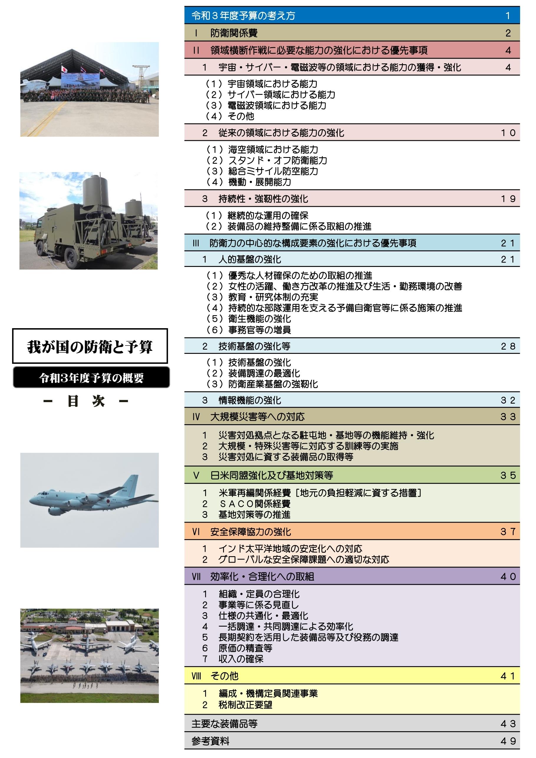我が国の防衛と予算(案)2021年度予算の概要0003