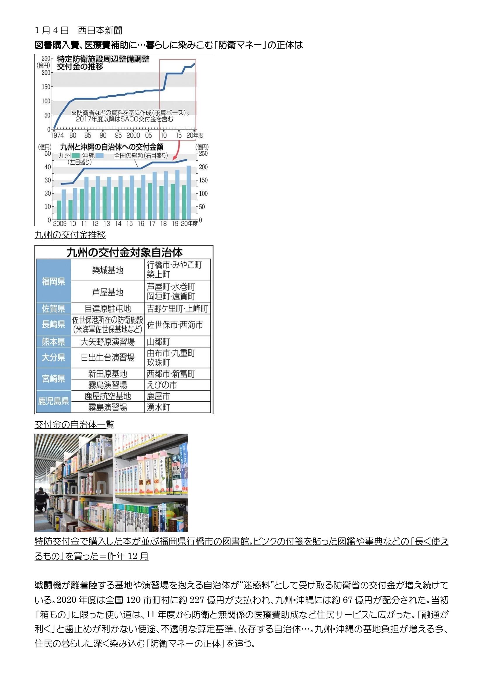 西日本新聞2021 0104 01