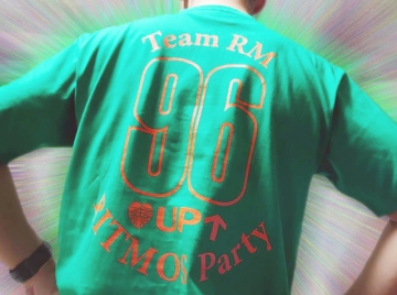 96UPチャリティTシャツ_グリーン