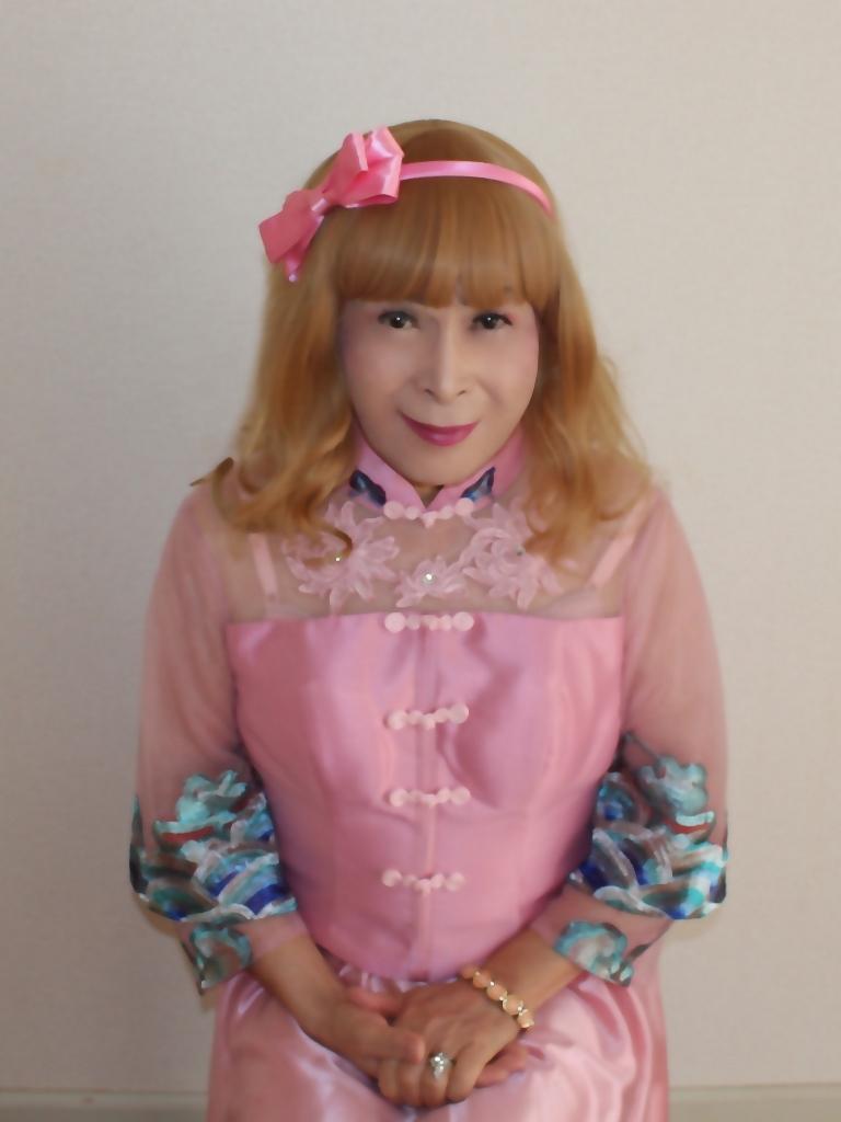 ピンクのチャイナ風ドレスC(2)