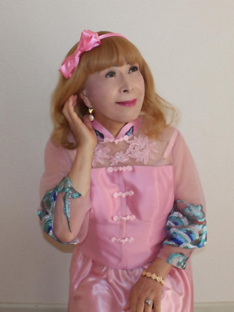 ピンクのチャイナ風ドレスC(3)