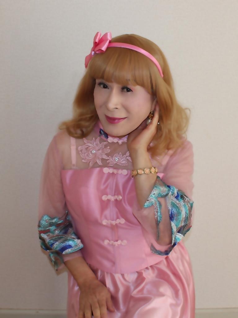 ピンクのチャイナ風ドレスC(4)