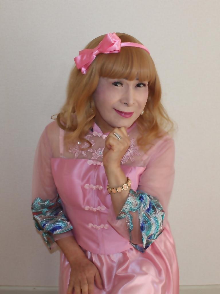 ピンクのチャイナ風ドレスC(5)