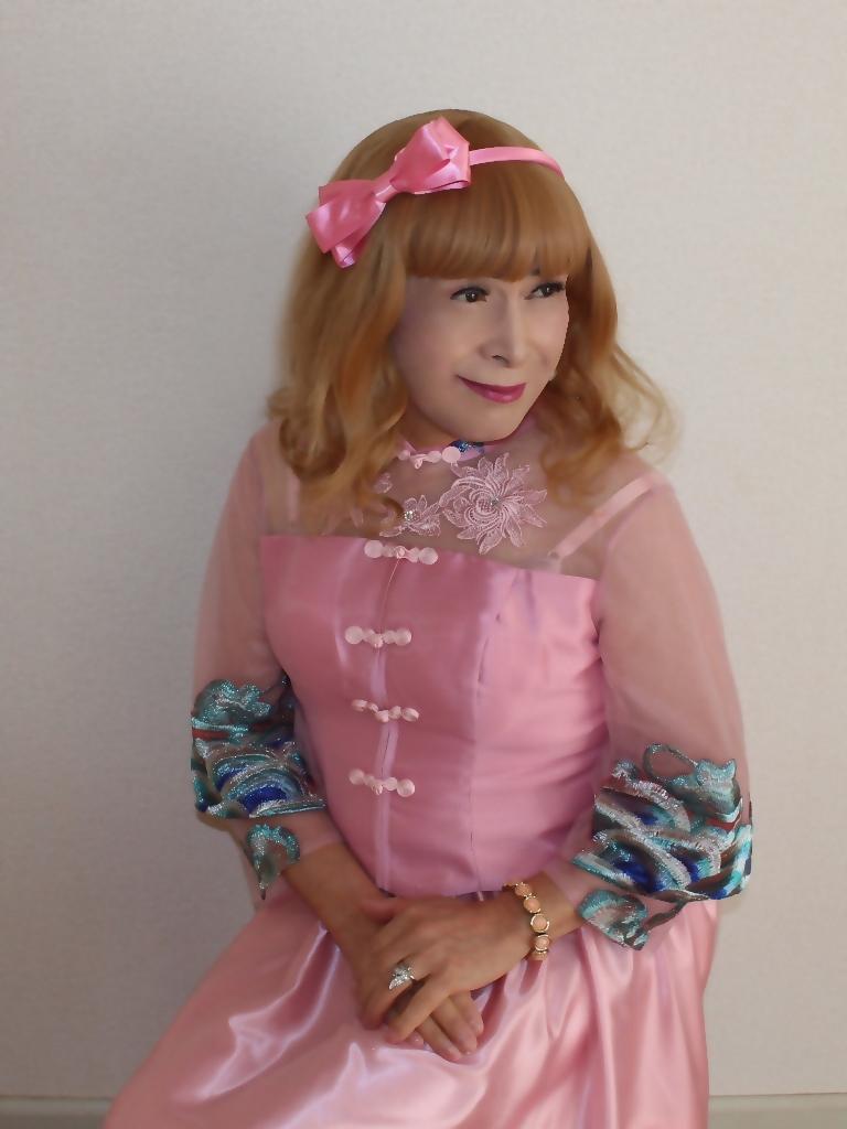 ピンクのチャイナ風ドレスC(7)