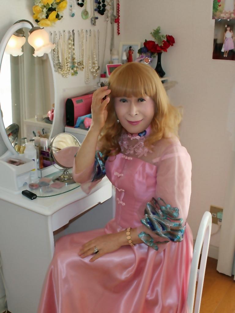 ピンクのチャイナ風ドレスD(1)