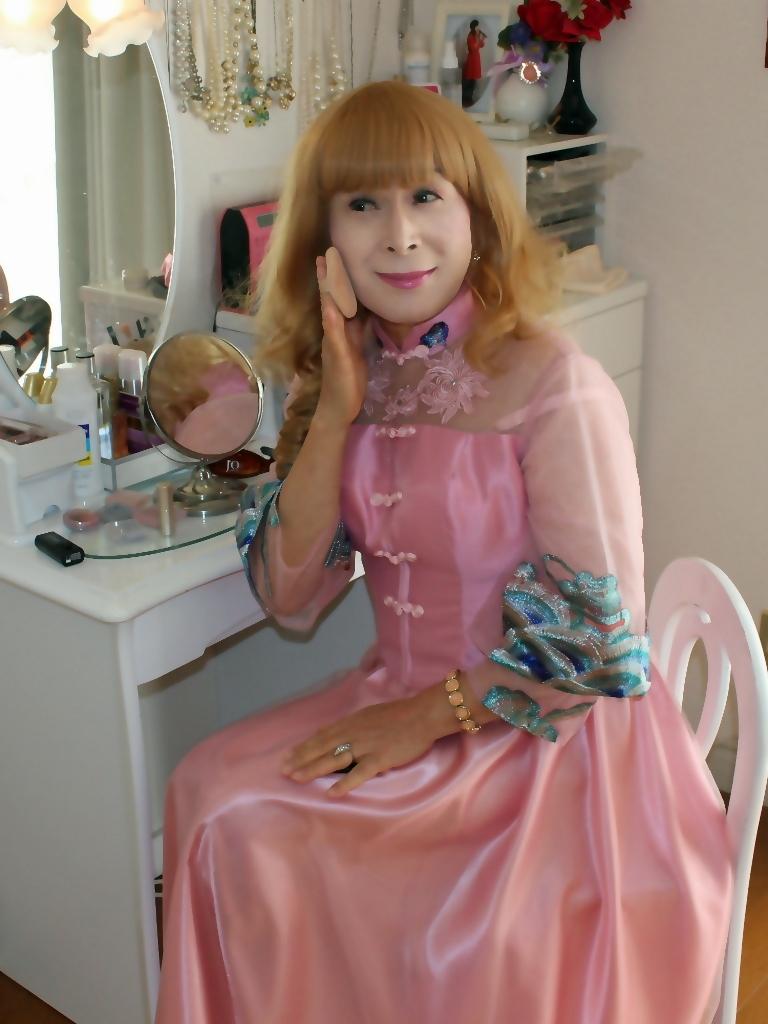 ピンクのチャイナ風ドレスD(6)