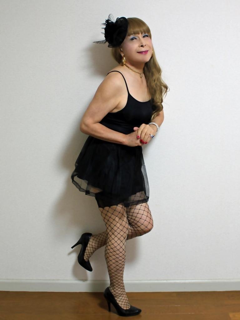 黒キャミソール黒パニエA(6)