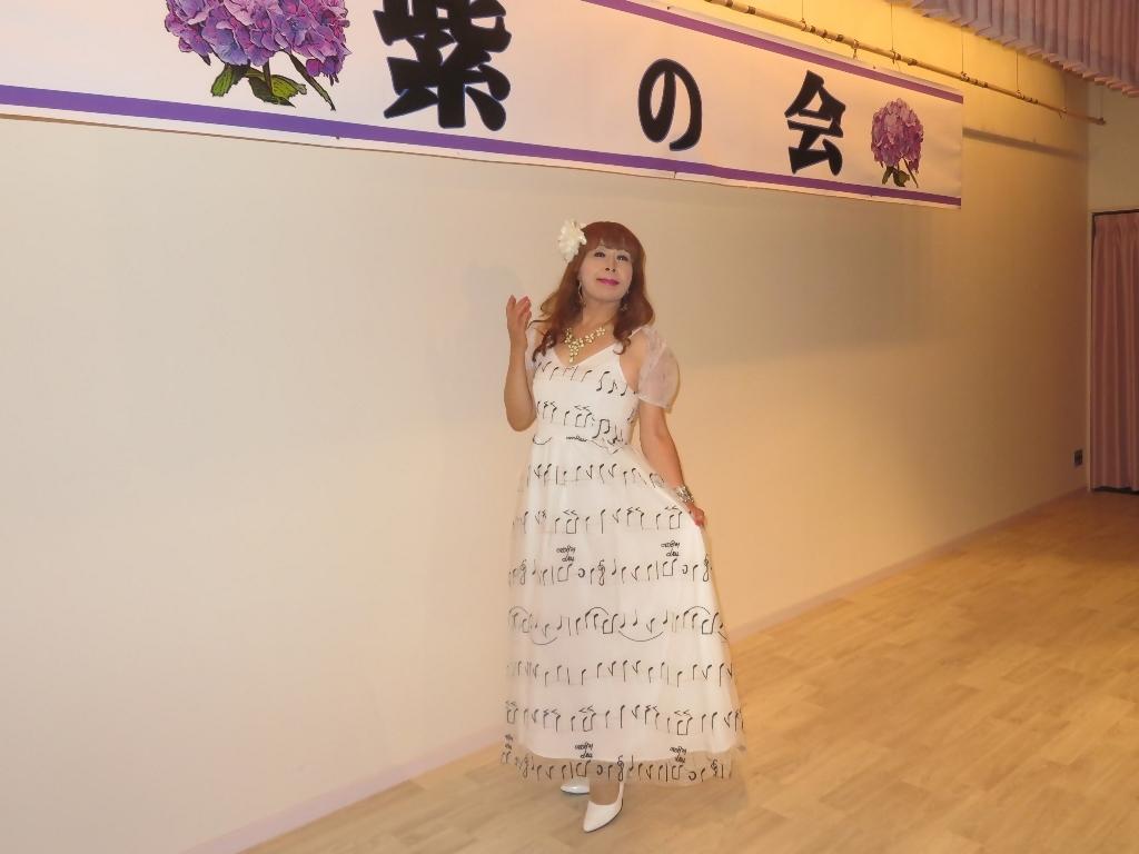 音符柄シフォンドレス紫雲閣D(8)