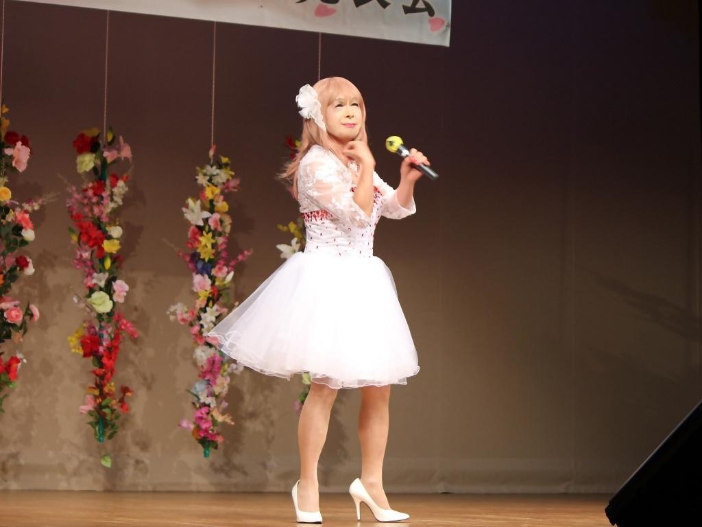 赤ビジュ飾りショートドレス舞台(20)