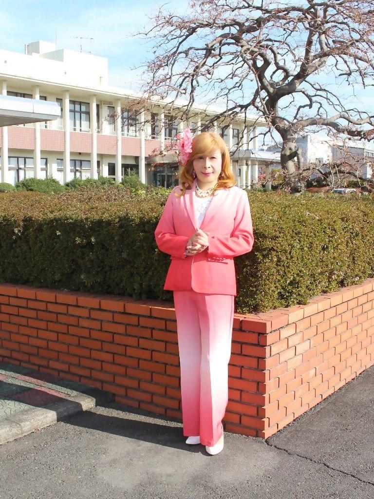 ピンクグラデーションパンツスーツB(5)