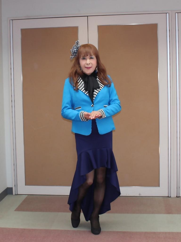 水色ジャケット紺マーメイドA(5)