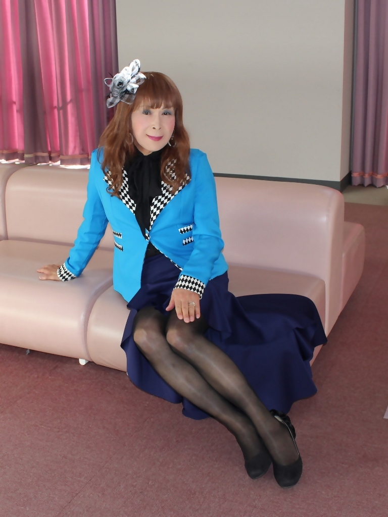 水色ジャケット紺マーメイドD(4)