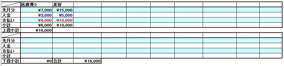 マネープランナーの家計簿3