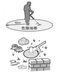 草刈機の正しい使い方_半径15m