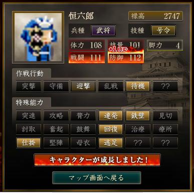 恒六郎 最終結果