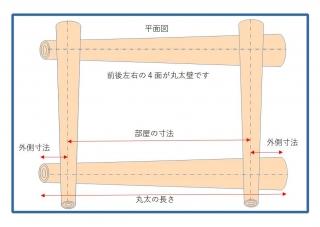 丸太小屋の平面図jpeg