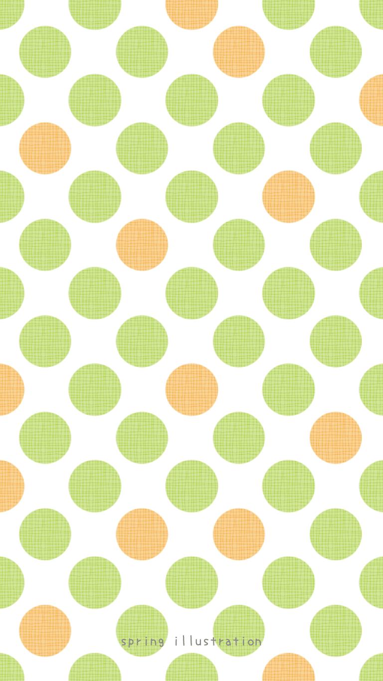 Melon パターンのスマホ壁紙 Spring Illustration シンプルでかわいいイラストのスマホ壁紙 スマホ待ち受け