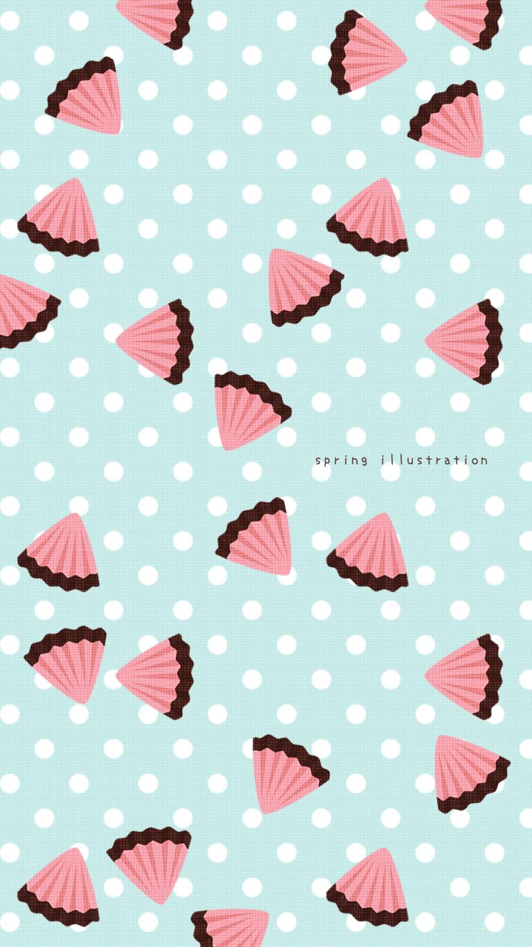アポロチョコ お菓子のイラストスマホ壁紙 Spring Illustration シンプルでかわいいイラストのスマホ壁紙 スマホ待ち受け