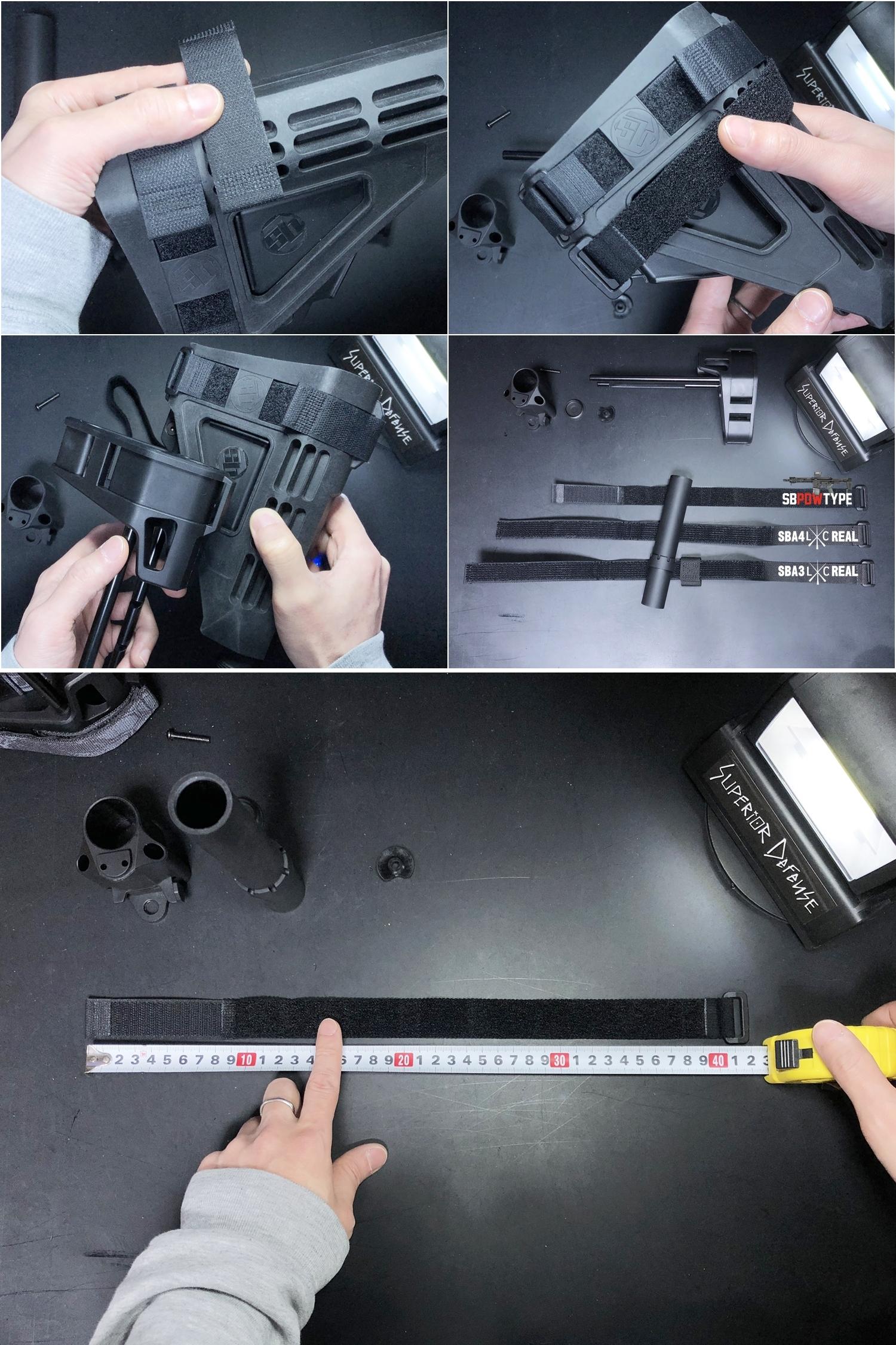 9 SB TACTICAL SB-PDW TYPE!! ちょっと気になって 購入~検証~DIY してみた!! STD電動ガン専用 M4 AR-15 スタビブレース バットストック & NOVESKE GEN3 MB専用 ポン付け ストック スリング プレート作製!!