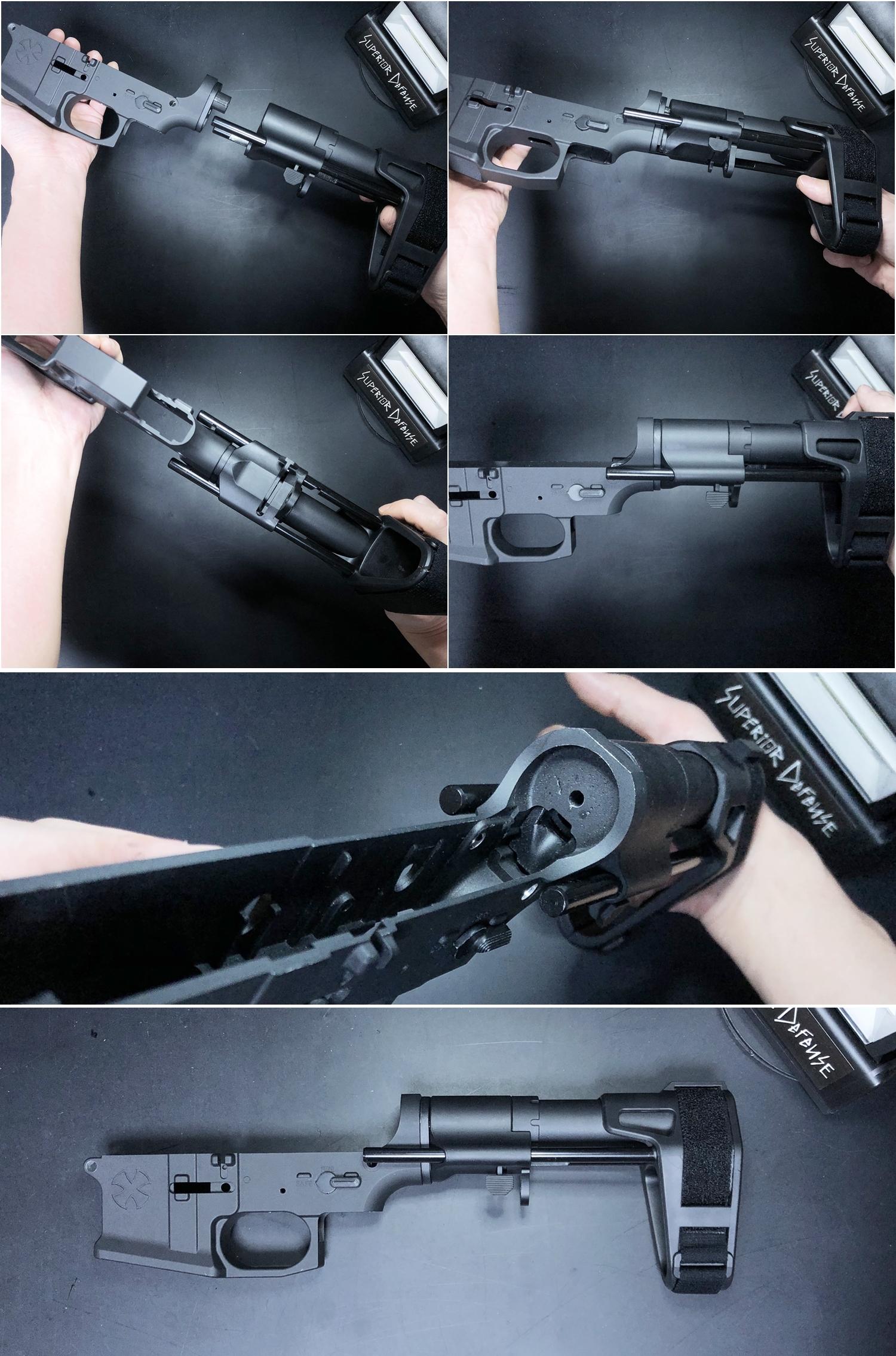 21 SB TACTICAL SB-PDW TYPE!! ちょっと気になって 購入~検証~DIY してみた!! STD電動ガン専用 M4 AR-15 スタビブレース バットストック & NOVESKE GEN3 MB専用 ポン付け ストック スリング プレート作製!!