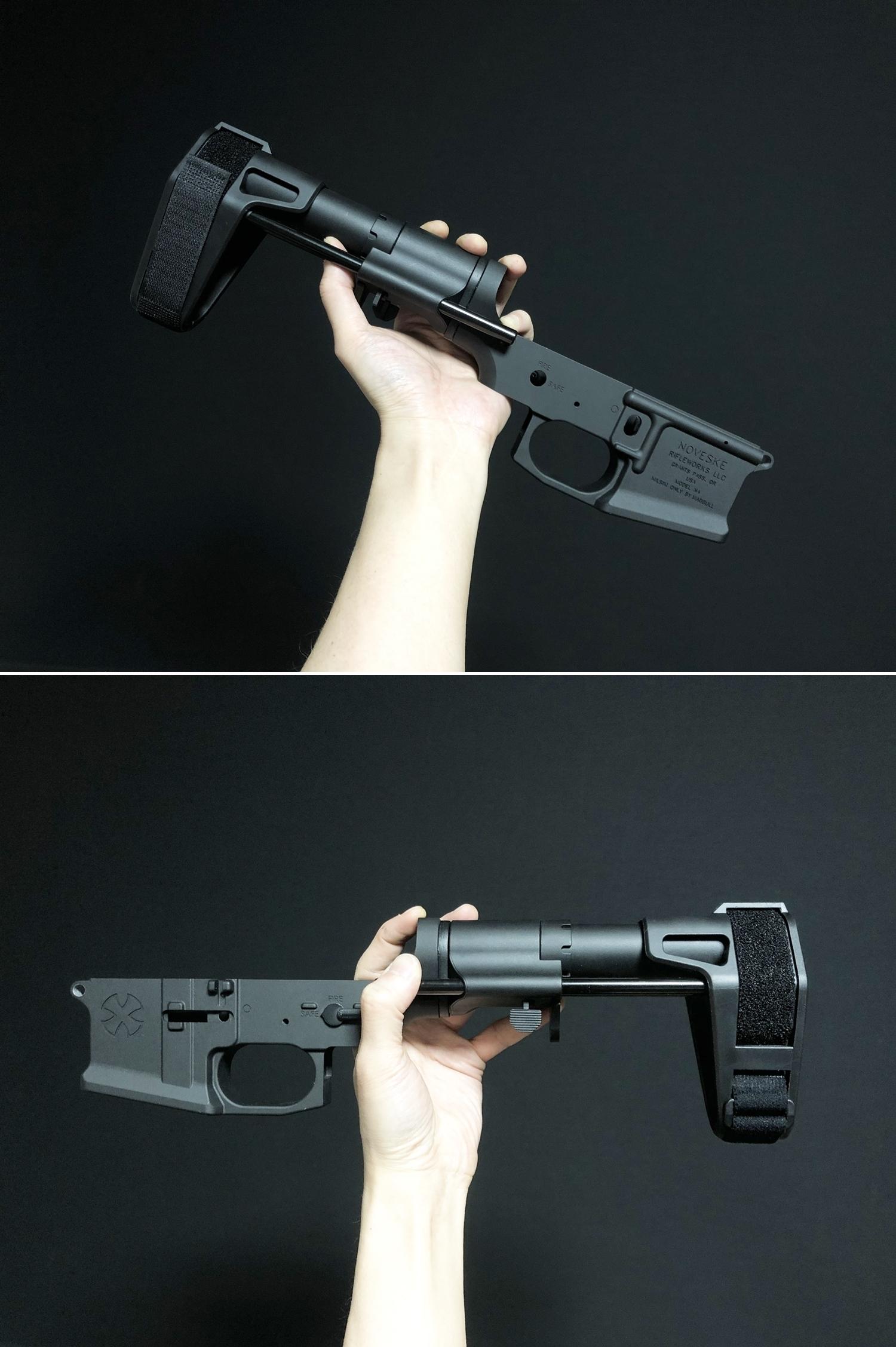 23 SB TACTICAL SB-PDW TYPE!! ちょっと気になって 購入~検証~DIY してみた!! STD電動ガン専用 M4 AR-15 スタビブレース バットストック & NOVESKE GEN3 MB専用 ポン付け ストック スリング プレート作製!!