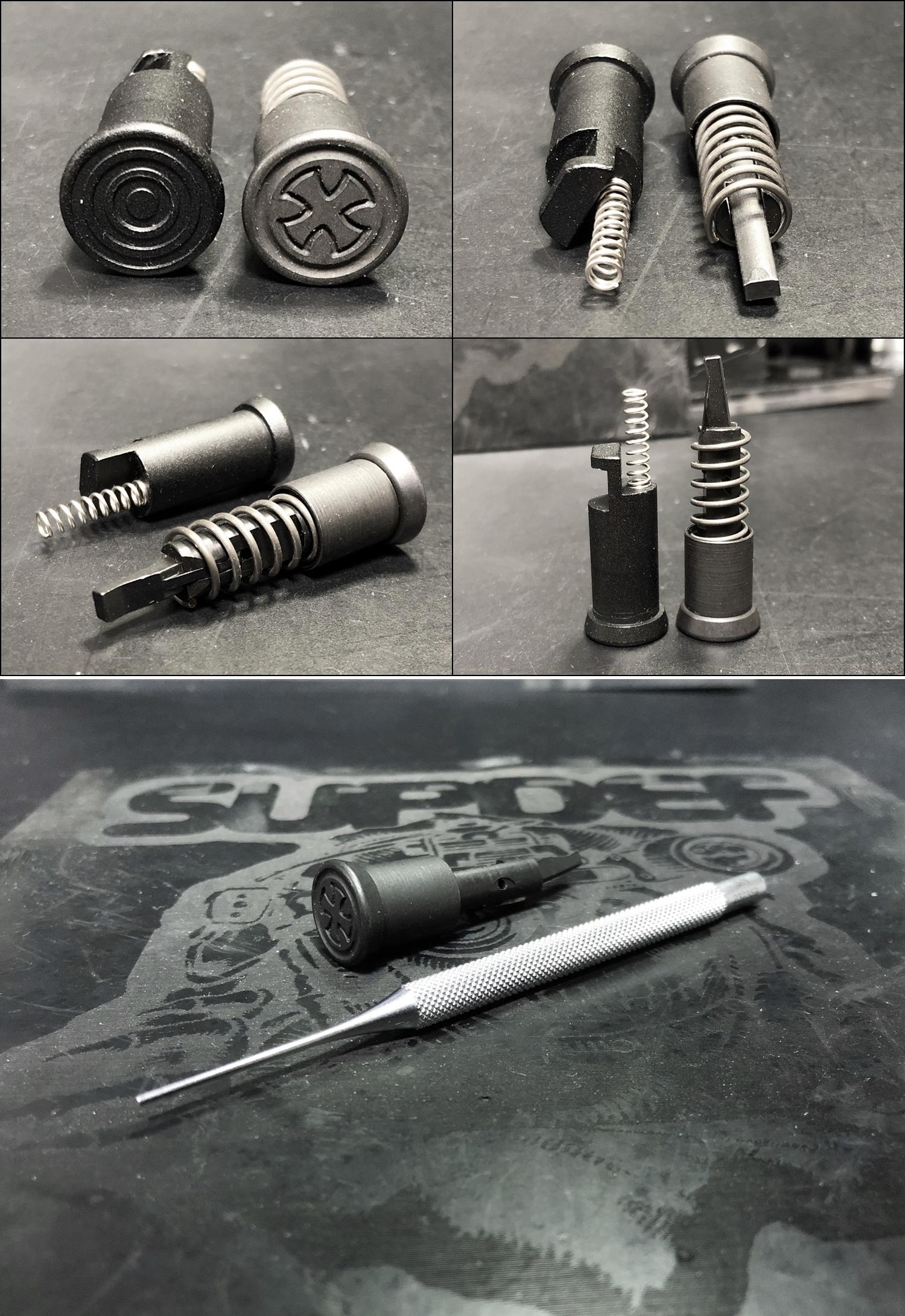 6 実物 NOVESKE MARKED FORWARD ASSIST KIT!! 次世代 AR-15 HILOG M4 N4 プチ DIY カスタム編!! フォワードアシストノブ フォアードアシスト!! 3D DIY 購入 加工 取付 交換 レビュー!!