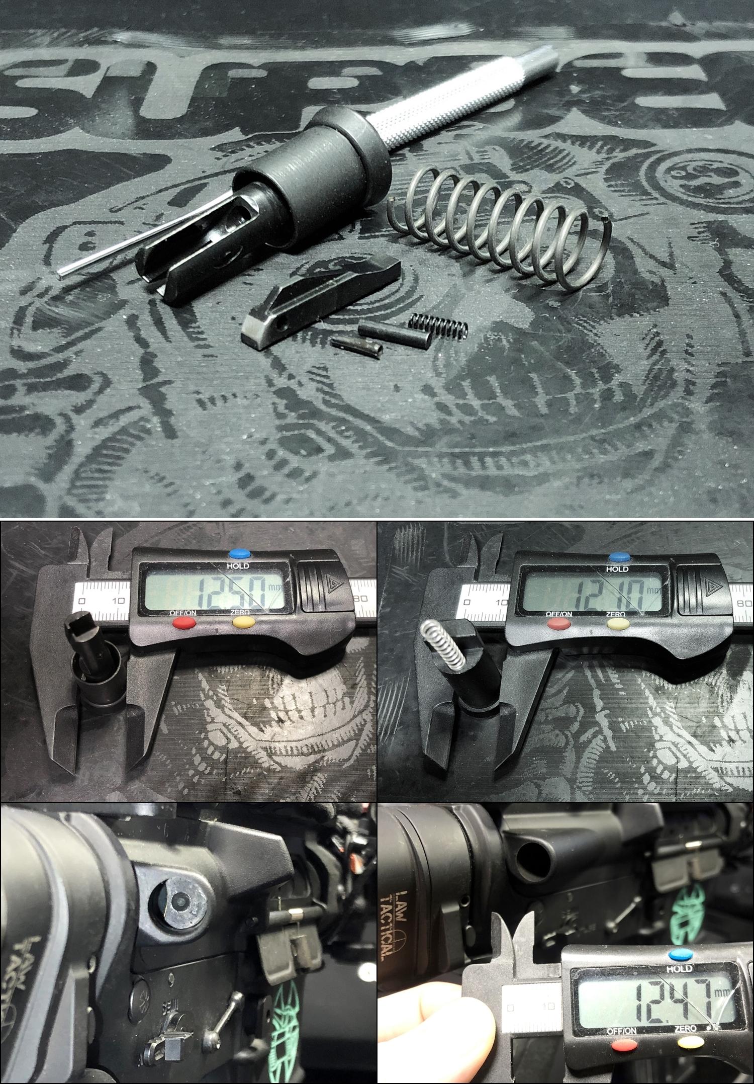 7 実物 NOVESKE MARKED FORWARD ASSIST KIT!! 次世代 AR-15 HILOG M4 N4 プチ DIY カスタム編!! フォワードアシストノブ フォアードアシスト!! 3D DIY 購入 加工 取付 交換 レビュー!!