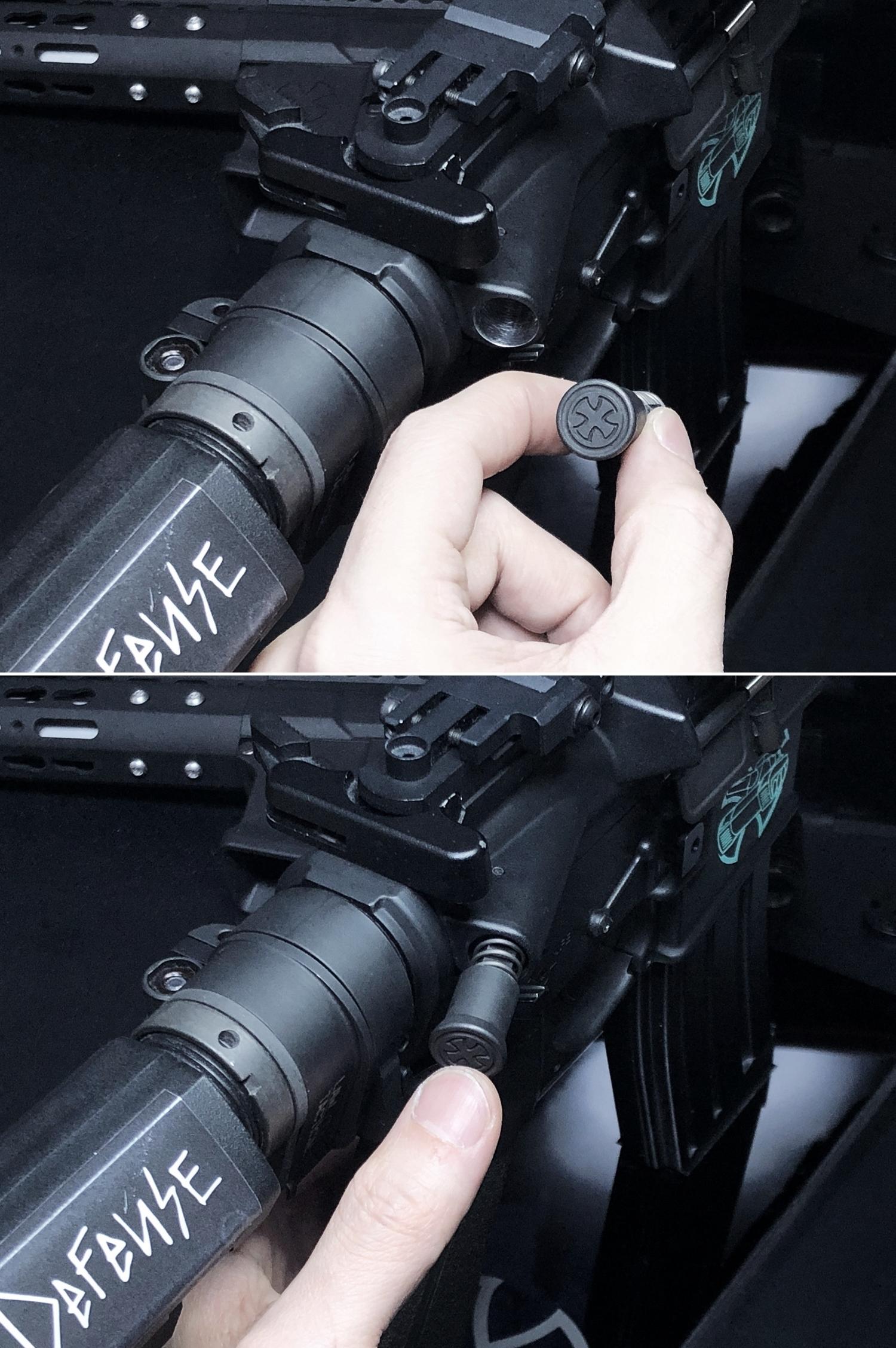 16 実物 NOVESKE MARKED FORWARD ASSIST KIT!! 次世代 AR-15 HILOG M4 N4 プチ DIY カスタム編!! フォワードアシストノブ フォアードアシスト!! 3D DIY 購入 加工 取付 交換 レビュー!!