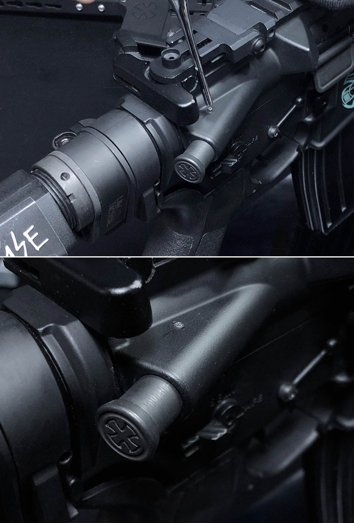 19 実物 NOVESKE MARKED FORWARD ASSIST KIT!! 次世代 AR-15 HILOG M4 N4 プチ DIY カスタム編!! フォワードアシストノブ フォアードアシスト!! 3D DIY 購入 加工 取付 交換 レビュー!!
