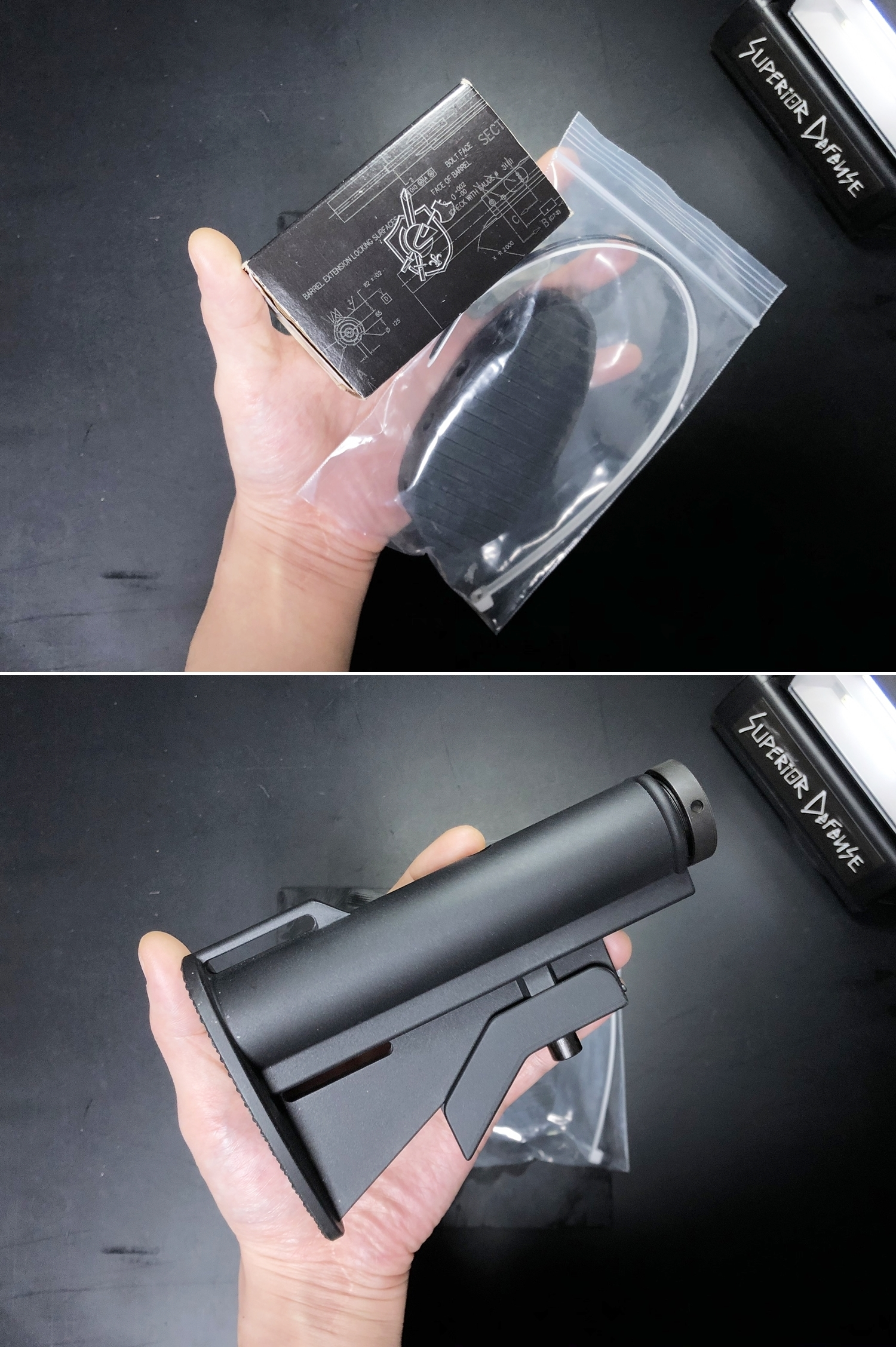 2 実物 Knight's Armament M4 Carbine Buttstock QD 0-1 Sling Mount Kit & JOHN MASEN DELTA PAD & REMAKE M733 COMMANDOS STOCK!! DIY NOVESKE PIG!! KAC ナイツ QD デルタパッド!! 購入 取付 カスタム レビュー!!