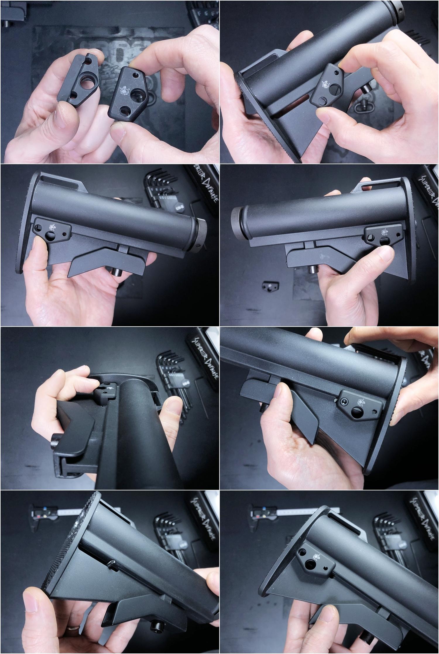 8 実物 Knight's Armament M4 Carbine Buttstock QD 0-1 Sling Mount Kit & JOHN MASEN DELTA PAD & REMAKE M733 COMMANDOS STOCK!! DIY NOVESKE PIG!! KAC ナイツ QD デルタパッド!! 購入 取付 カスタム レビュー!!
