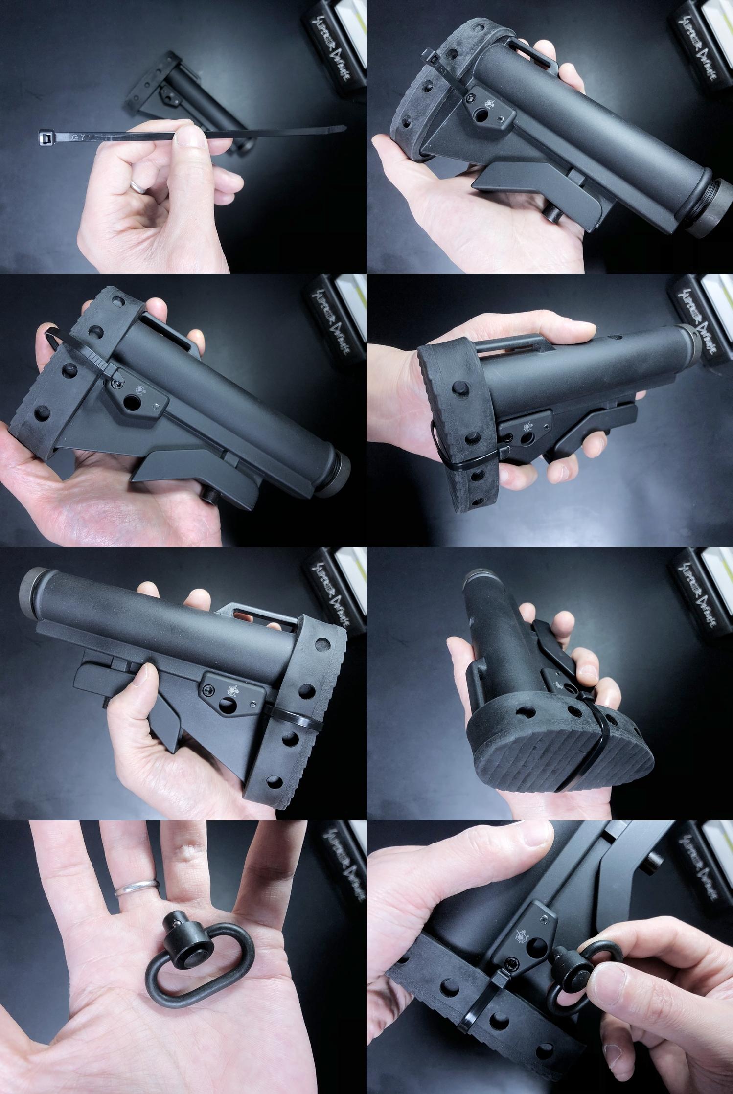 20 実物 Knight's Armament M4 Carbine Buttstock QD Sling Mount Kit & JOHN MASEN DELTA PAD & REMAKE M733 COMMANDOS STOCK!! DIY NOVESKE PIG!! KAC ナイツ QD デルタパッド!! 購入 取付 カスタム レビュー!!