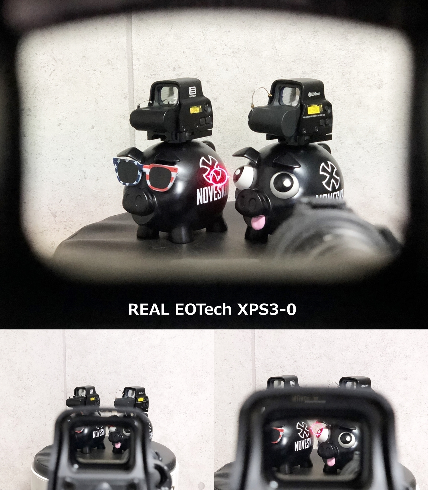 18 EVOLUTION GEAR EOTech EXPS3-0!! 実物 & エボギア & NO BRAND レンズの違い検証!! DEVTRON SCOPECOAT ホロサイト カバー装着!! NOVESKE PIG の仲間が増えました!! 開封 検証 取付 レビュー!!