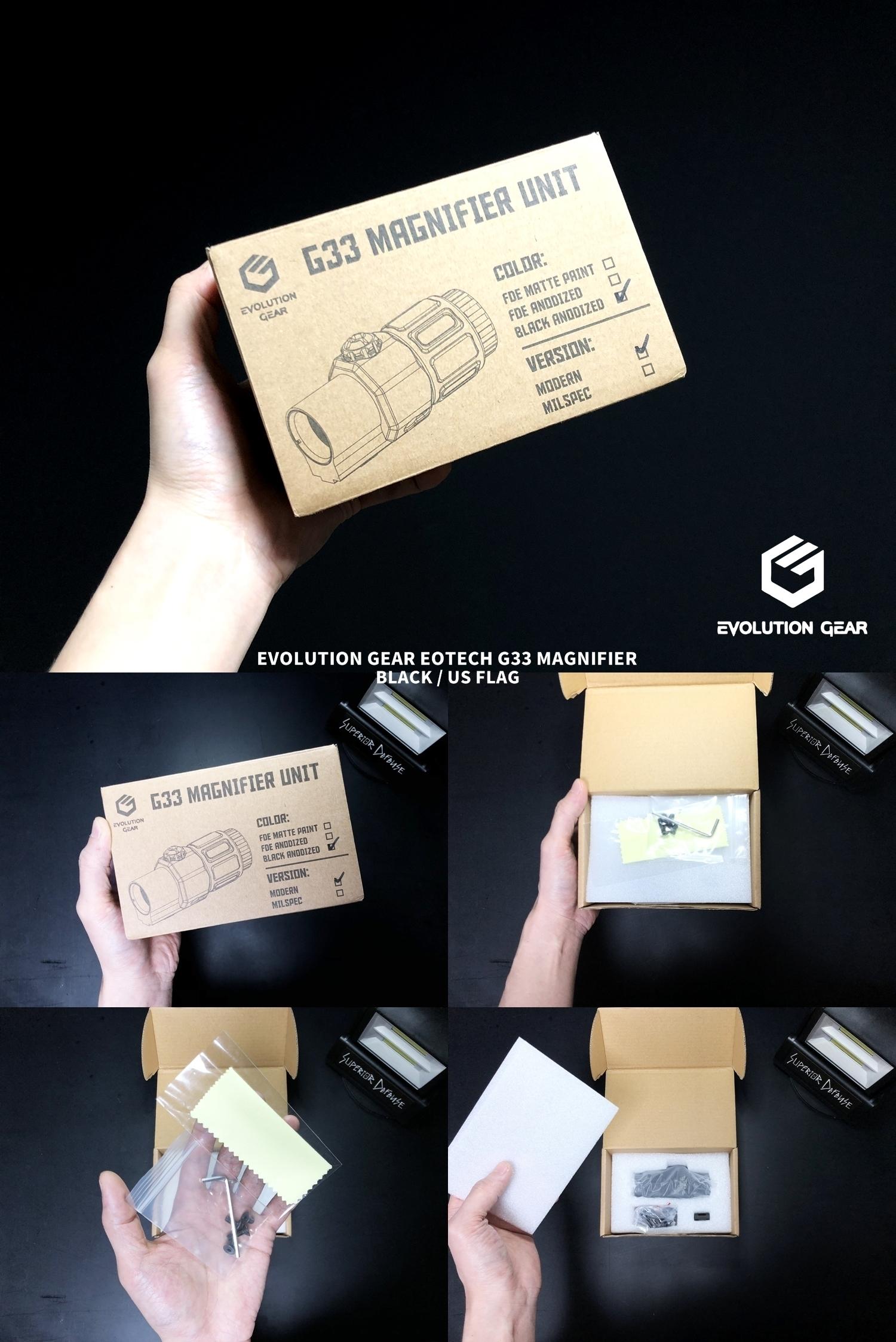 1 EVOLUTION GEAR EOTech G33 MAGNIFIER!! エボギア 3倍 ブースター マグニファイア買ってみた!! 高品質6枚レンズの実力は如何に! 開封 検証 取付 レビュー!! したるの巻!!